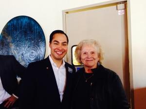 Mayor Julian Castro and Judy McEntire